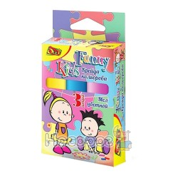 """Крейда кольорова OL-023 """"Funny Kids"""", 3 штуки, джамбо, круглий, Olli 365157"""