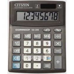 Калькулятор Citizen Correct SD-208 (Размер 209х155х33 мм)