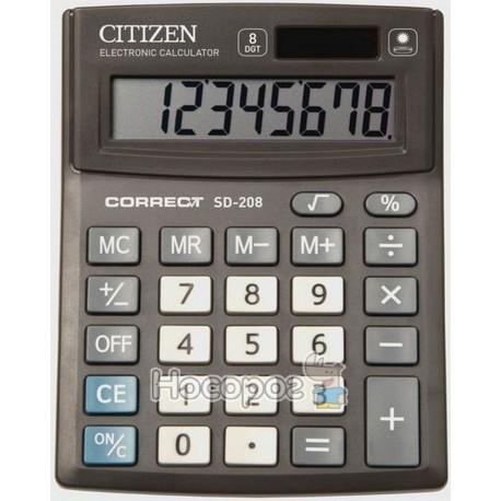 Фото Калькулятор Citizen Correct SD-208 компактний настільний, 8 р.