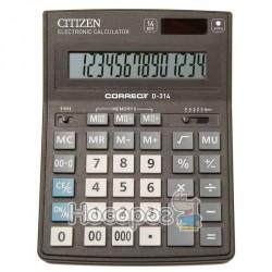 Калькулятор Citizen Correct D-314 бухгалтерський, 14 р.