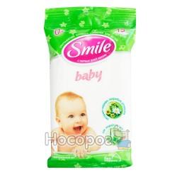 Вологі серветки Smile ромашка + звіробій + череди