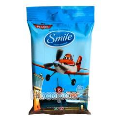 Вологі серветки Smile Літаки (15 шт)