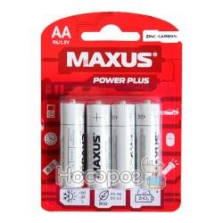 Батарейки MAXUS R6-АА-С4 (Хлорид цинка)
