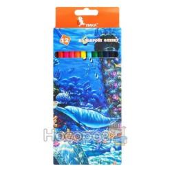 """Олівці кольорові Умка """"Підводний світ"""" 12 кольорів 01152260"""