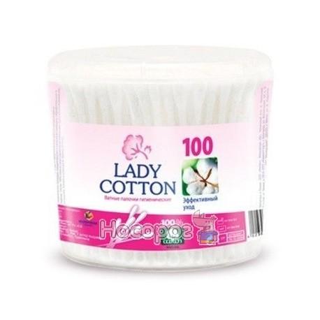 Фото Палочки ватные в банке Lady Cotton 100шт