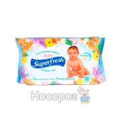 Влажные салфетки Superfresh Детская с клапан (72 шт)