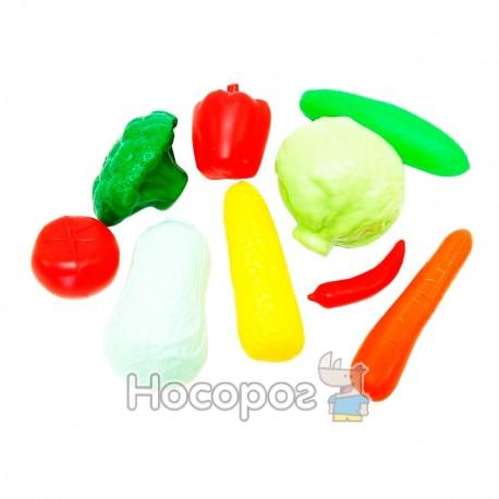 Фото Набір овочів KW-04-476 в сітці, 9 предметів (20шт/уп)