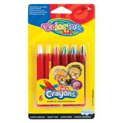"Карандаши для лица ""Colorino"" 6 цветов 32629PTR"