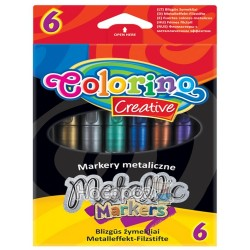 "Маркеры ""Colorino Creative"" 6 цветов Metallic 32582PRT"