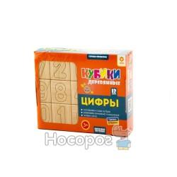 """Дерев'яні кубики """"Склади приклади - цифри Зірка"""""""