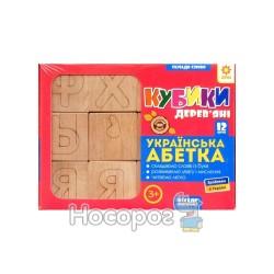"""Деревянные кубики """"Сложи слово - Укр. Азбука Звезда"""""""