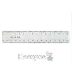 Лінійка пластик 15 см прозора 370329