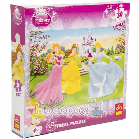 "Фото Пазл ""Три принцессы возле дворца"" / Disney"