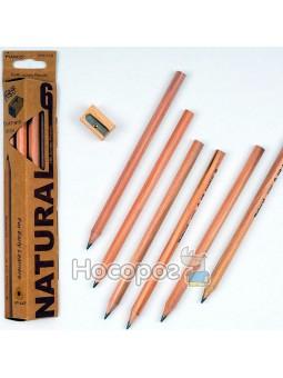 Олівці прості Marco 6050-6CB Natural Jumbo товсті з точилкою