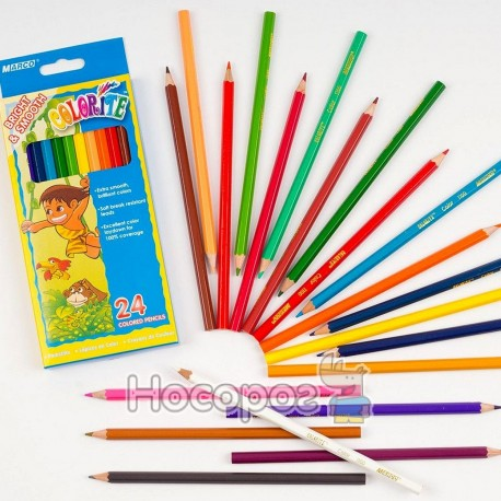 Олівці кольорові Marco 1100-24CB Colorite