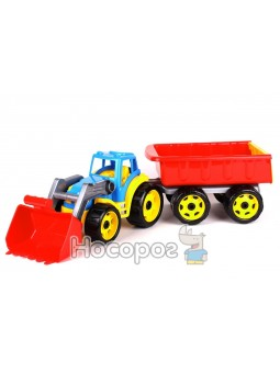 Трактор з ковшем та причепом (арт.5079)-3