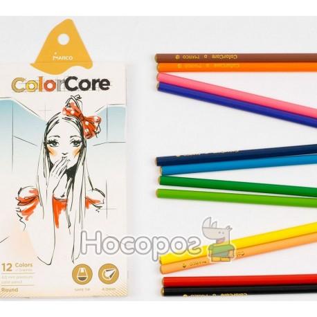 Олівці кольорові Marco 3130-12CB ColorCore