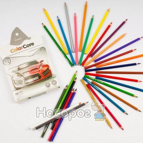 Олівці кольорові Marco 3100-36CB ColorCore