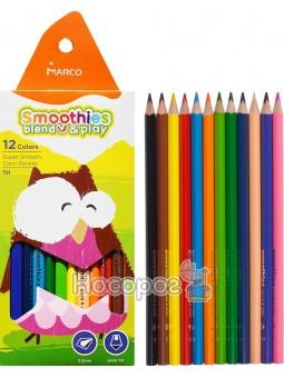 Карандаши цветные Marco Smoothies blend & play 2150-12CB