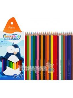 Карандаши цветные Marco Smoothies blend & play 2150-24CB