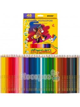 Олівці кольорові Marco 48 кольорів 1010-48 Пегашка