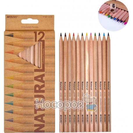 Карандаши цветные Marco 12 цветов 6400-12CB Natural