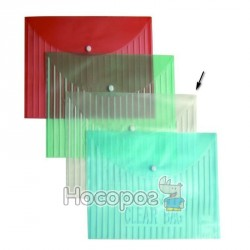 Папка з кнопкою А4 4Office 4-206 прозора (03030720) (12)