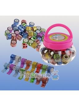 Набор декоративных клейких лент Centrum Glitter 12мм*1м, ассорти с блестками, в друме (уп. 40шт) 88099