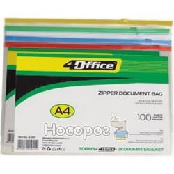 Папка конверт на блискавці 4Office 4-207 прозора
