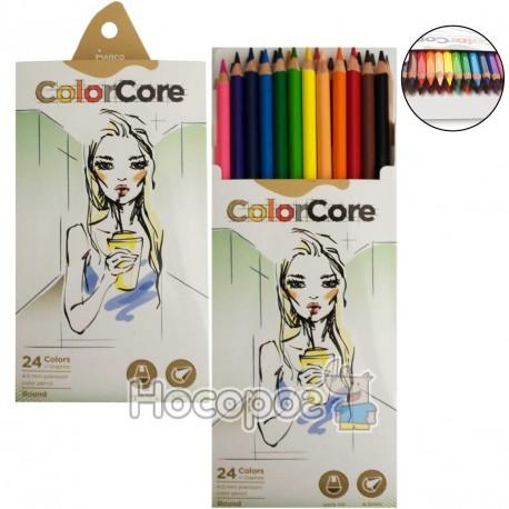 Олівці кольорові Marco 3130-24CB ColorCore