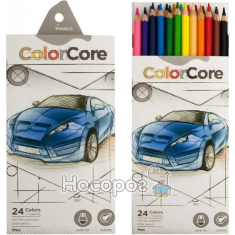 Олівці кольорові Marco 3100-24CB ColorCore