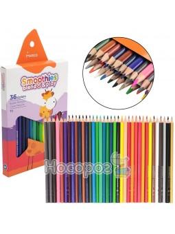 Карандаши цветные Marco Smoothies blend & play 2150-36CB