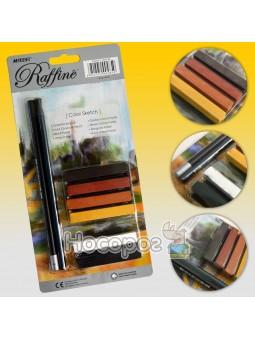 Олівці прості Marco 7991BL художній набір на блістері (2 олівця+пастель)