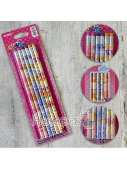 Олівці прості Marco НB 1000EP-6BL Colorite з гумкою
