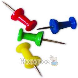 Кнопки-гвіздки 4Office 4-334 асорті