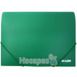 Папка на резинках А4 4Office 4-209 зеленая