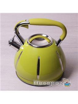Чайник со свистком Kamille 0691A 3л салатовый