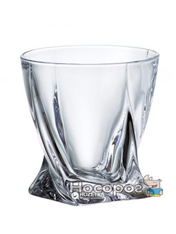 Набор низких стаканов для виски Bohemia Quadro 340 мл 6 шт (2K936/99A44/340)