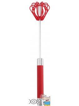 Міксер ручний з нержавіюча стали Renberg 30 см червоний (RB-5010-RED)