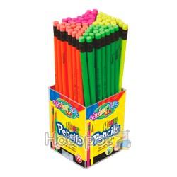 Карандаши простые с резинкой Neon 65443PTR