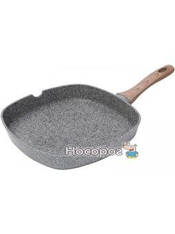 Сковорода-гриль Bergner Neuss 28х28х4.5 см алюминиевая с гранитным антипригарным покрытием (psg_SG-6154)