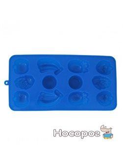 Форма для льда Kamille 21,5х11х1,5 см Синяя (KM-7712)
