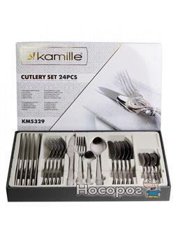 Набір столових приборів Kamille 5329 з нержавіючої сталі 24 предмета