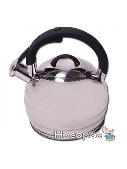 Чайник со свистком Kamille 0653 зеркальный 3л