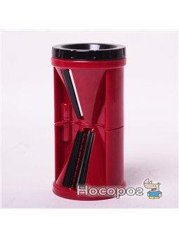 Шинковка Kamille 10087 спиральная пластиковая 6.9*6.9*13.5 см красная
