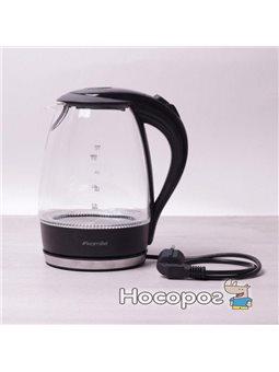 Электрический чайник Kamille с LED подсветкой 1.7 л Прозрачный/Черный (KM-1700B)
