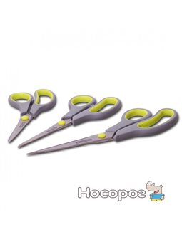 Ножницы универсальные Kamille 5186 3пр. из нержавеющей стали с пластиковыми ручками 19.2 см,21.5 см, 24.5 см