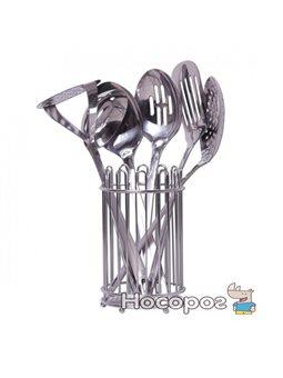 Набор кухонных принадлежностей Kamille 5232 в комплекте с подставкой 6 предметов