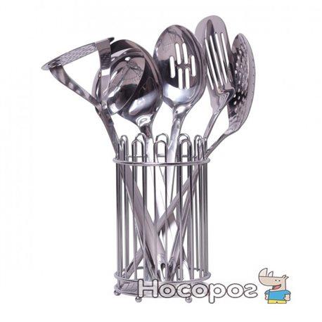 Фото Набор кухонных принадлежностей Kamille 5232 в комплекте с подставкой 6 предметов