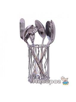 Набор кухонных принадлежностей Kamille 6 предметов в комплекте с подставкой (5231)